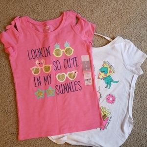 New with tags girl's shirts